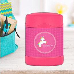 playful pony personalized thermos food jar for kids