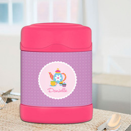 tea time personalized thermos food jar for kids