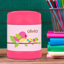 singing birds personalized thermos food jar for kids