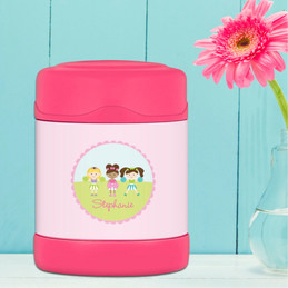 three cheerleaders personalized thermos food jar for kids