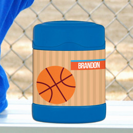 basketball fan personalized thermos food jar for kids