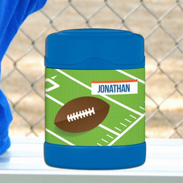 football fan personalized thermos food jar for kids
