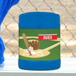 baseball fan personalized thermos food jar for kids
