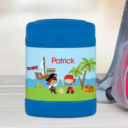 Yo-Ho Pirate personalized thermos food jar for kids