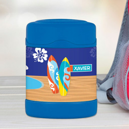 surfing boards personalized thermos food jar for kids