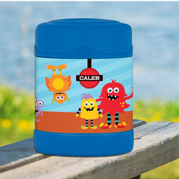 monster attack personalized thermos food jar for kids