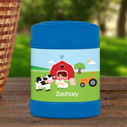 Personalize your thermos food jar with A Day in the Farm design