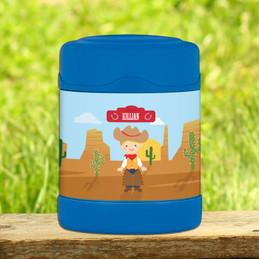 Cowboy Thermos Food Jar