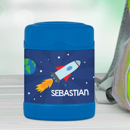 rocket launch personalized thermos food jar for kids