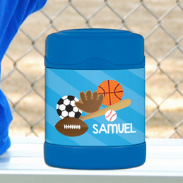 sports fan personalized thermos food jar for kids