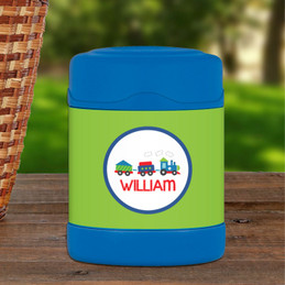 choo choo train personalized thermos food jar for kids