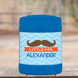 little mr. mustache personalized thermos food jar for kids