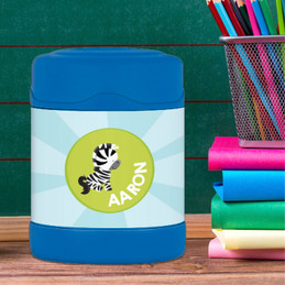 cute baby zebra personalized thermos food jar for kids