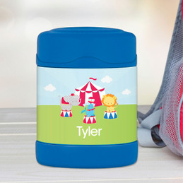 fun circus personalized thermos food jar for kids