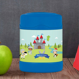 three knights personalized thermos food jar for kids