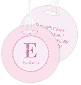 A Shiny Pink Letter Bag Tag