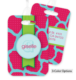 Cute Pink Rocks Bag Tag