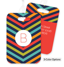 Style in Stripes Bag Tag