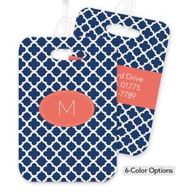 Quatrefoil Beauty Bag Tag