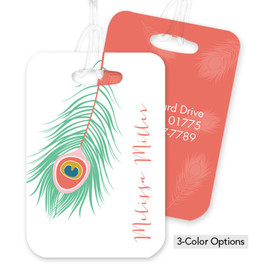 A Beautiful Feather Bag Tag
