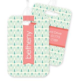 Triangle Maze Bag Tag
