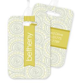 Circles and Shapes Bag Tag