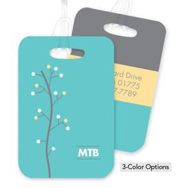 Yellow Modern Thin Tree Bag Tag