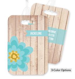 Rustic Flower Bag Tag