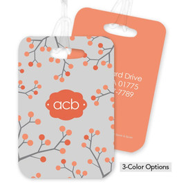 Branches and Dots Bag Tag