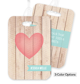 Rustic Heart Bag Tag