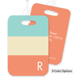 Three Colorful Rows Bag Tag