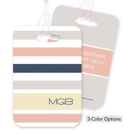 Array of Pastel Stripes Bag Tag