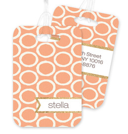Tapestry Pattern Circles Bag Tag