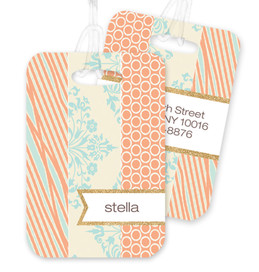 Orange Tapestries Bag Tag