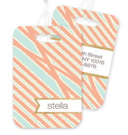 Tapestry Pattern Stripes Bag Tag