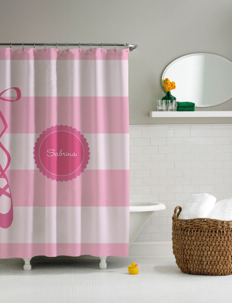 My Ballerina Shoes Shower Curtain | personalized shower curtain for ...
