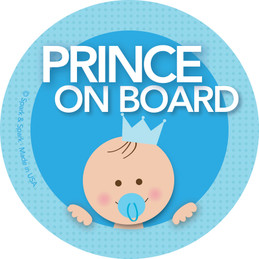 Baby On Board Stickers - Brunette Prince