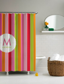 Bold & Fun Stripes Shower Curtain