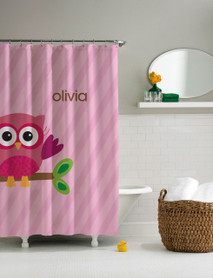 Pink Owl be yours Shower Curtain
