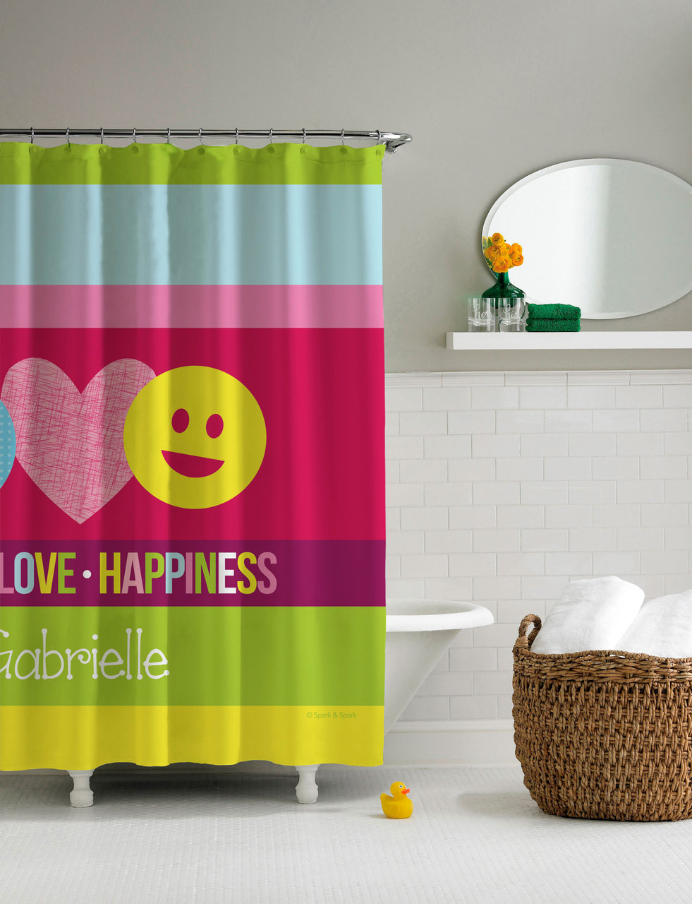 Peace Love Signs Shower Curtain