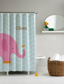 Sweet Pink Elephant Shower Curtain
