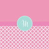 Pretty Pink Quatrefoil Shower Curtain