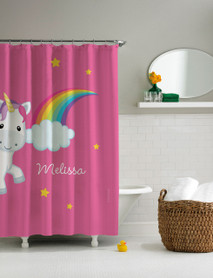 Rainbow Unicorn Shower Curtain