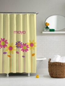 Three Spring Blooms Shower Curtain