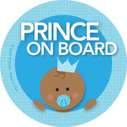 Baby On Board Sticker - Afr. Amer. Prince