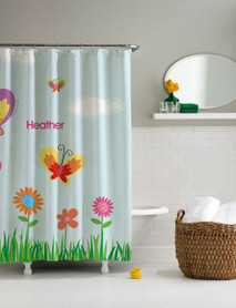 A Butterfly Field Shower Curtain