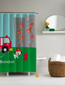 Fighting Fire Shower Curtain