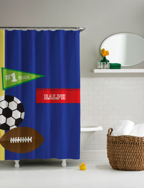 My Love For Sports Shower Curtain