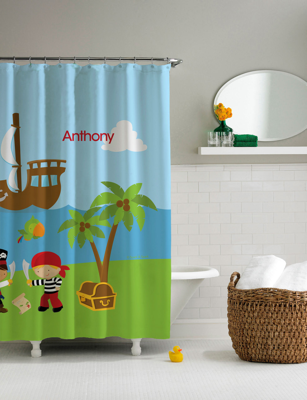 Yo Ho Pirate Shower Curtain