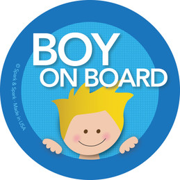 Fun Baby in Car Sticker with Blonde Boy | Spark & Spark